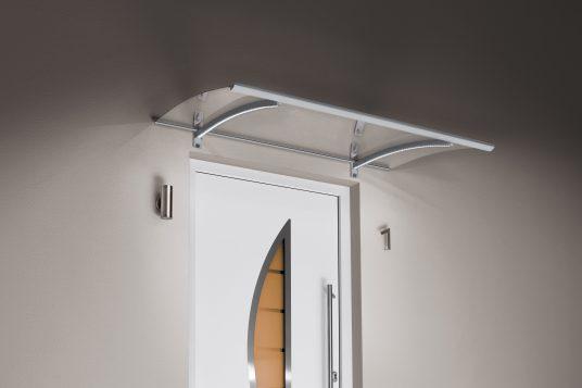 Auvent classique LED aspect acier inoxydable