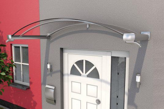 Auvent cintré BV/B 200 aspect acier inoxydable