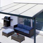 Pergola premium 4x3m acrylique klima blue